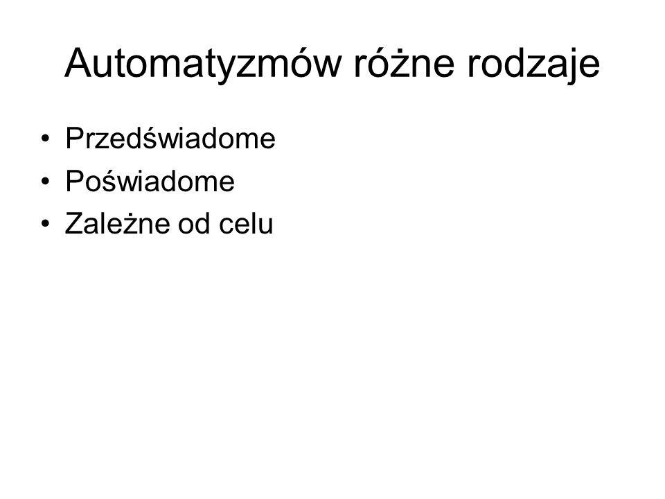 Automatyzmów różne rodzaje