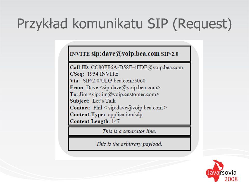 Przykład komunikatu SIP (Request)