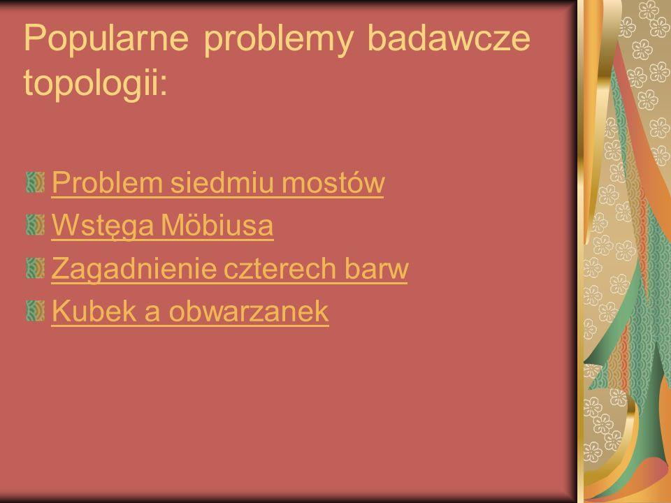 Popularne problemy badawcze topologii:
