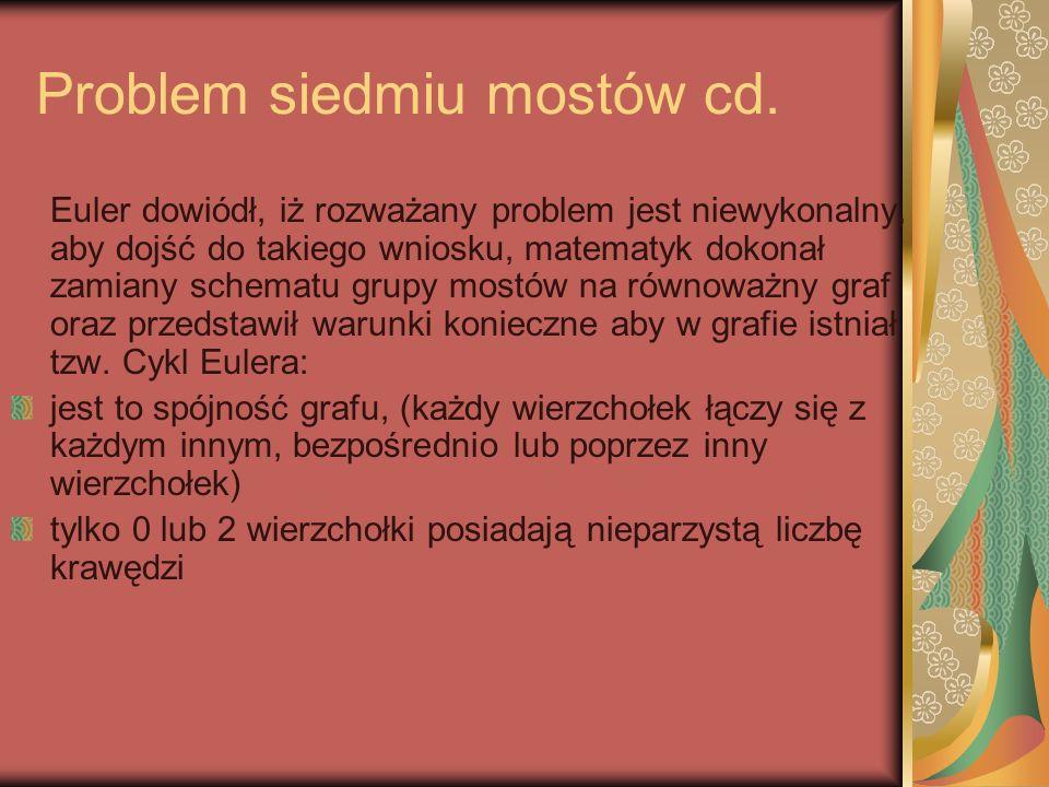 Problem siedmiu mostów cd.