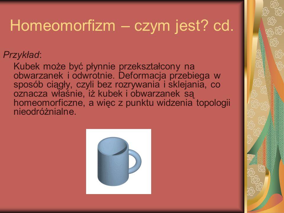 Homeomorfizm – czym jest cd.