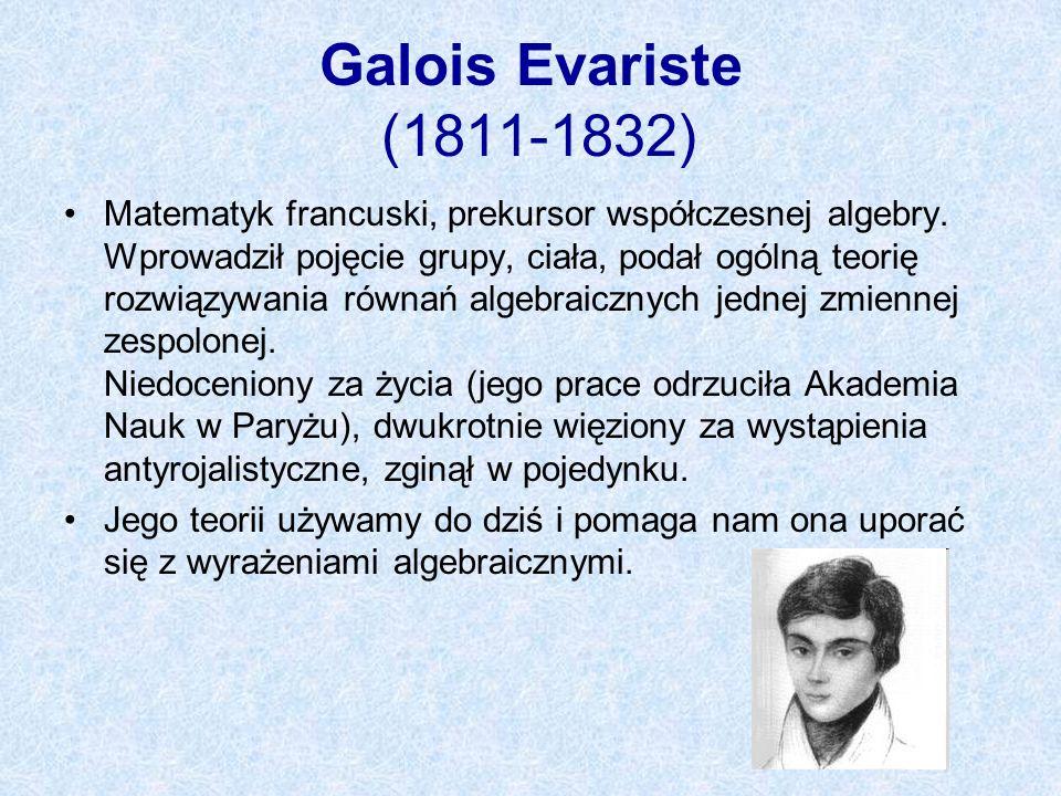 Galois Evariste (1811-1832)