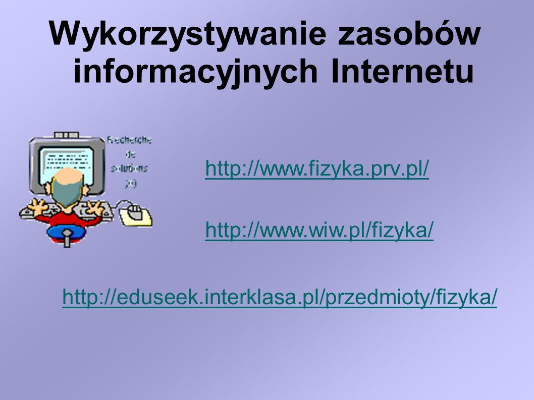 Wykorzystywanie zasobów informacyjnych Internetu