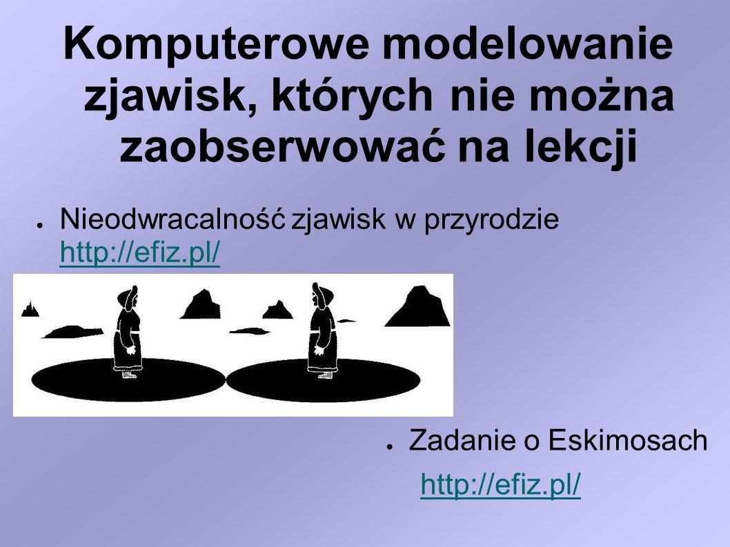 Komputerowe modelowanie zjawisk, których nie można zaobserwować na lekcji