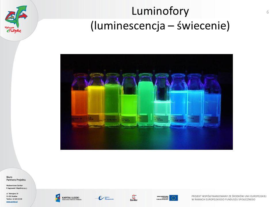 Luminofory (luminescencja – świecenie)