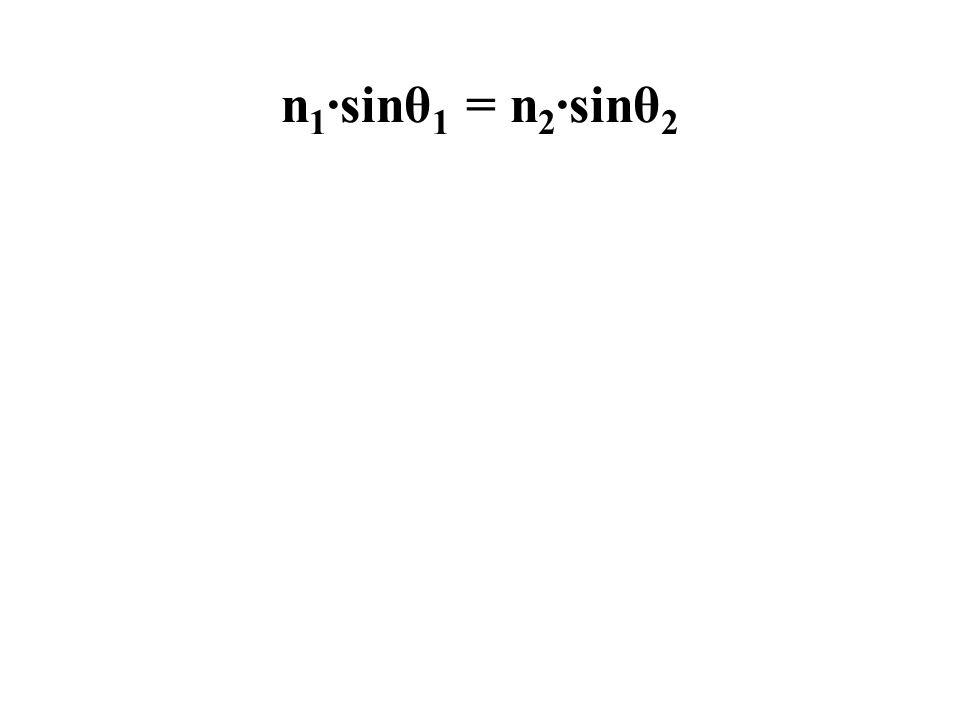 n1·sinθ1 = n2·sinθ2