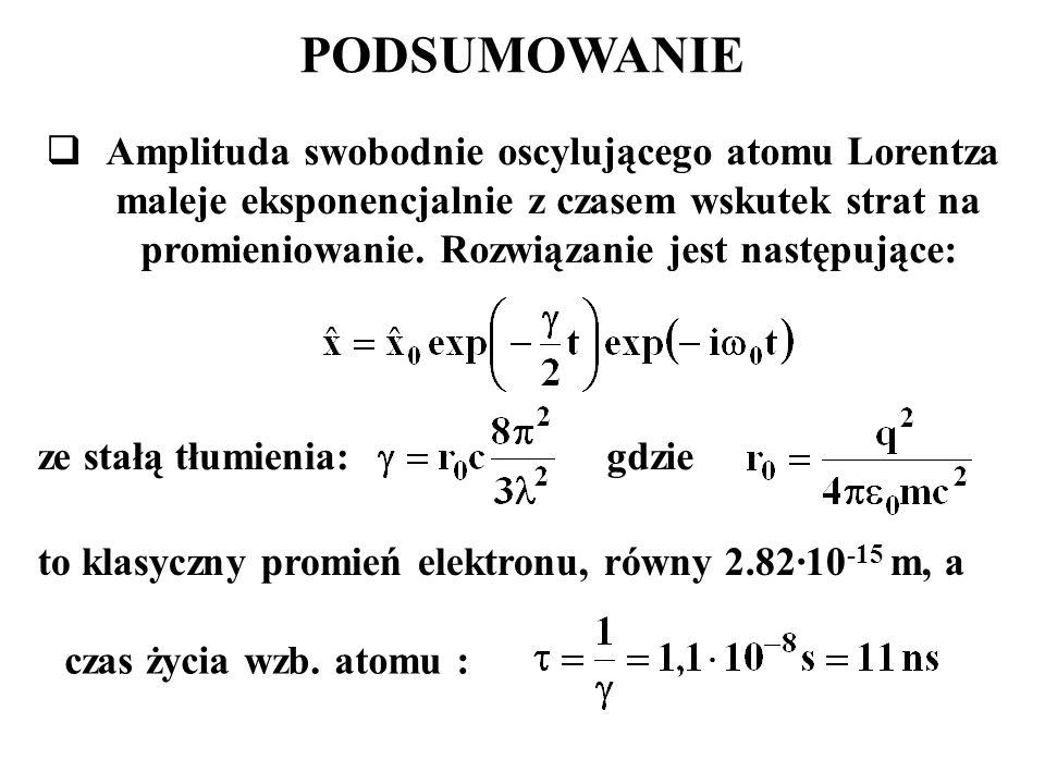 to klasyczny promień elektronu, równy 2.82·10-15 m, a