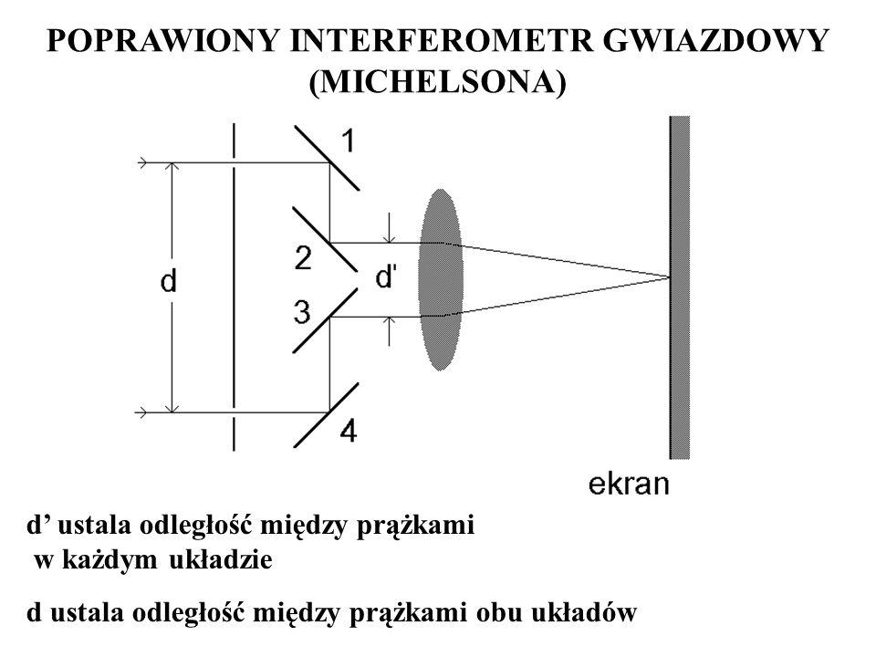 POPRAWIONY INTERFEROMETR GWIAZDOWY (MICHELSONA)