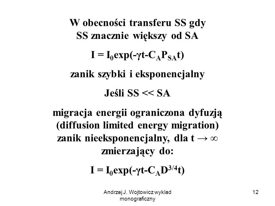 W obecności transferu SS gdy SS znacznie większy od SA
