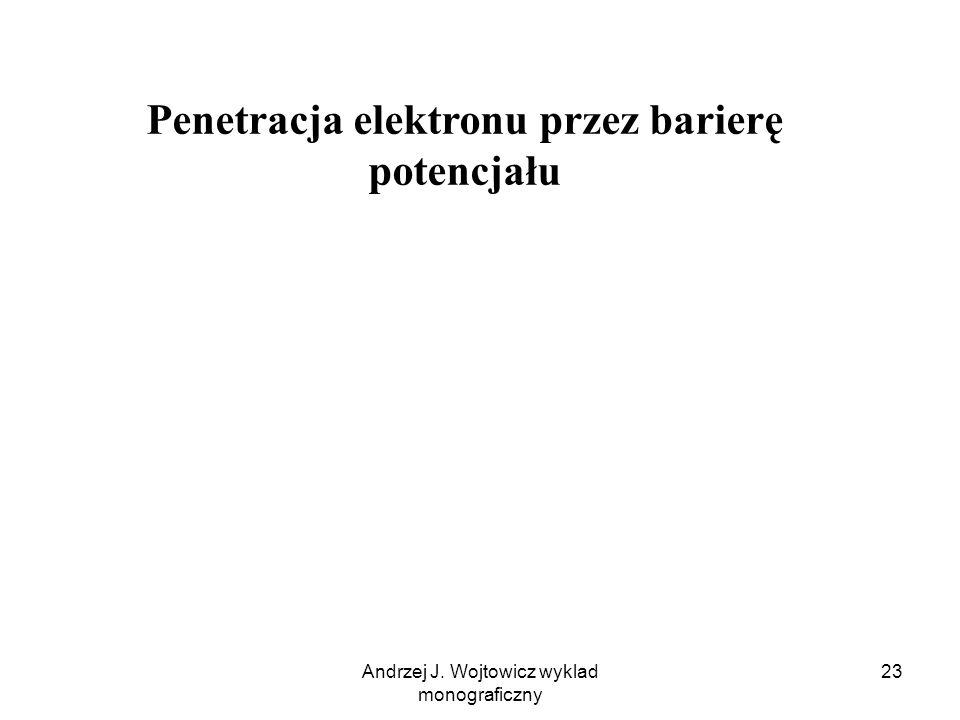 Penetracja elektronu przez barierę potencjału