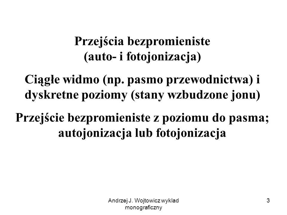 Przejścia bezpromieniste (auto- i fotojonizacja)