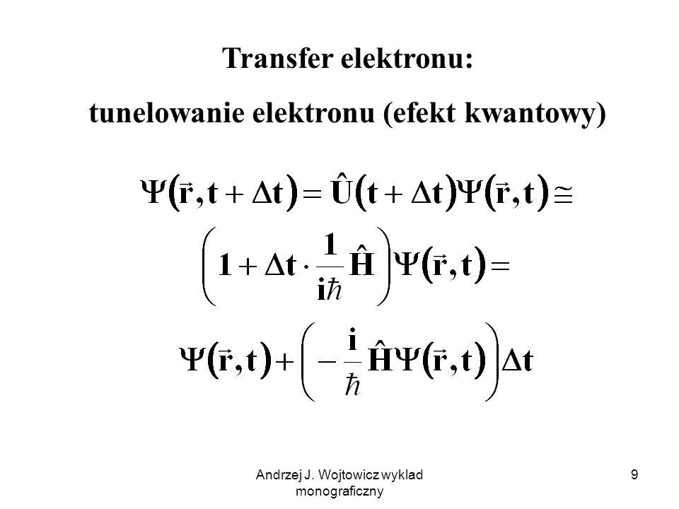 tunelowanie elektronu (efekt kwantowy)