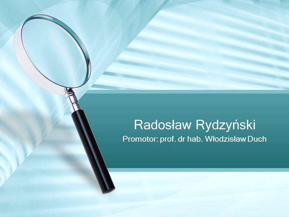 Promotor: prof. dr hab. Włodzisław Duch