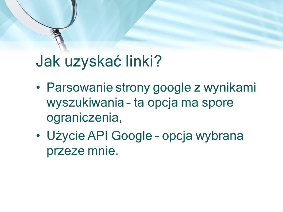 Jak uzyskać linki Parsowanie strony google z wynikami wyszukiwania – ta opcja ma spore ograniczenia,