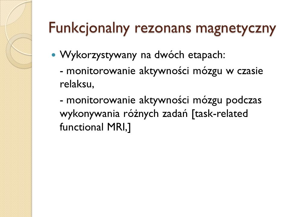 Funkcjonalny rezonans magnetyczny