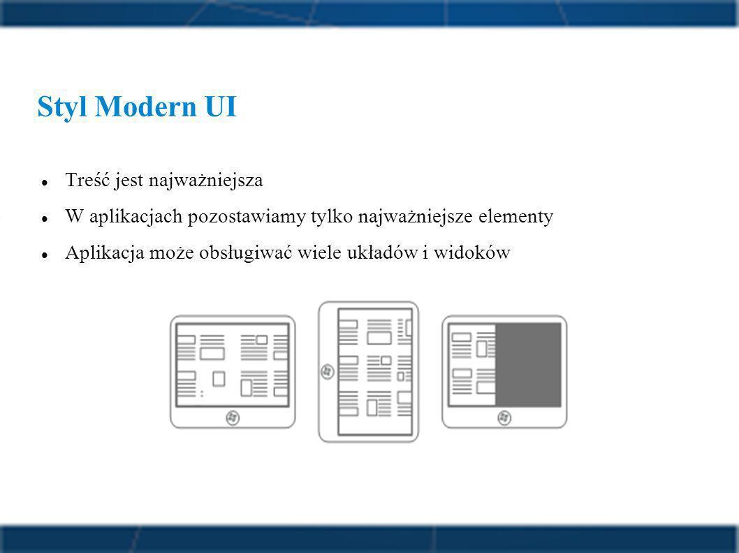 Styl Modern UI Treść jest najważniejsza
