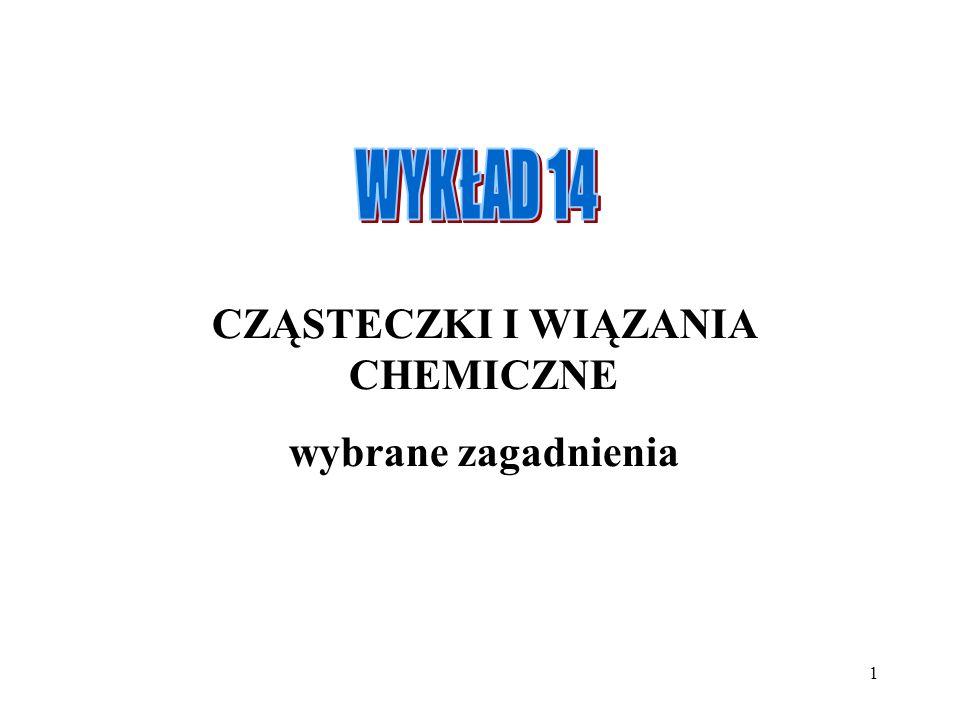 CZĄSTECZKI I WIĄZANIA CHEMICZNE