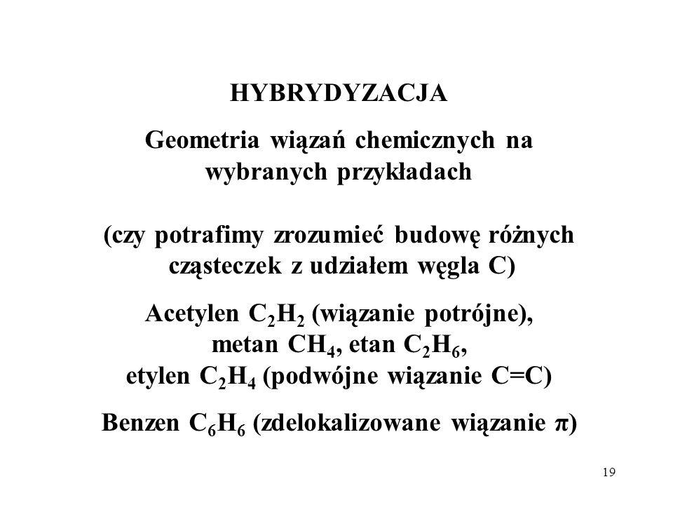 Benzen C6H6 (zdelokalizowane wiązanie π)