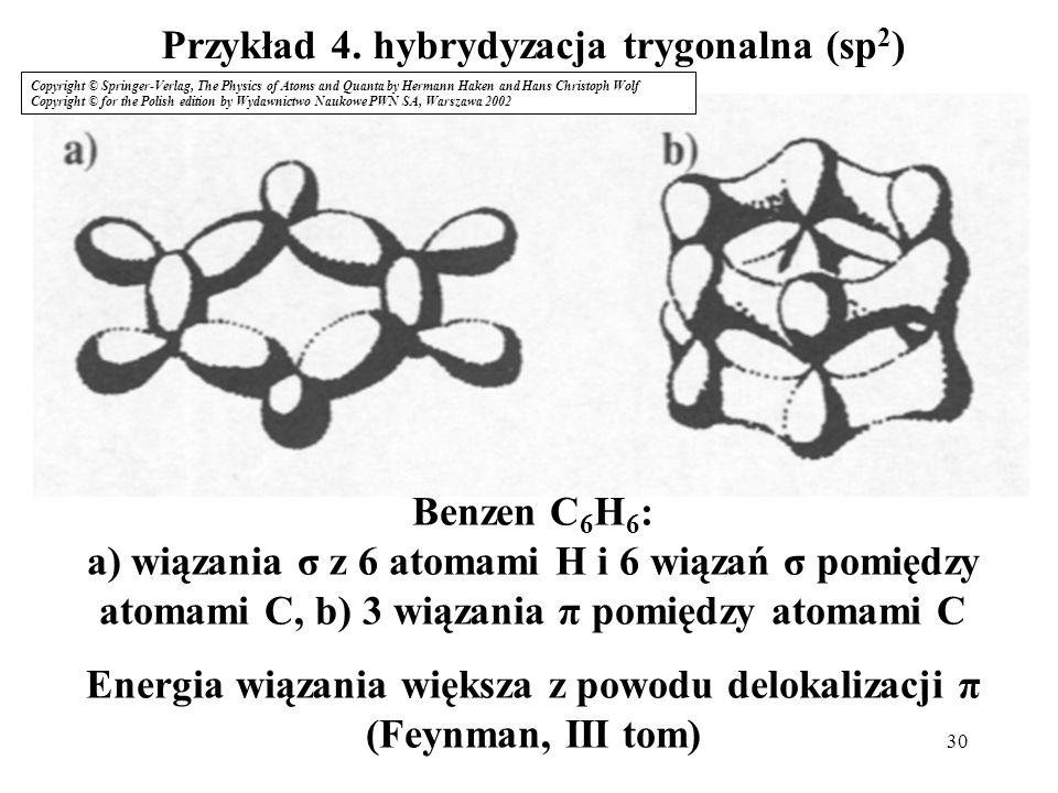 Przykład 4. hybrydyzacja trygonalna (sp2)