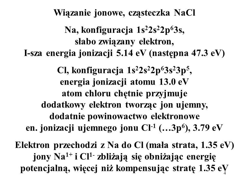 Wiązanie jonowe, cząsteczka NaCl