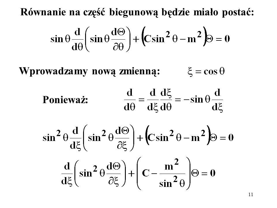 Równanie na część biegunową będzie miało postać: