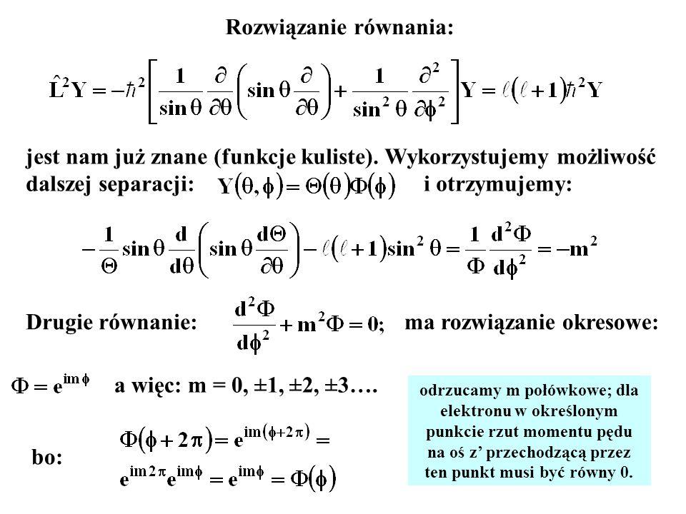 Rozwiązanie równania: ma rozwiązanie okresowe: