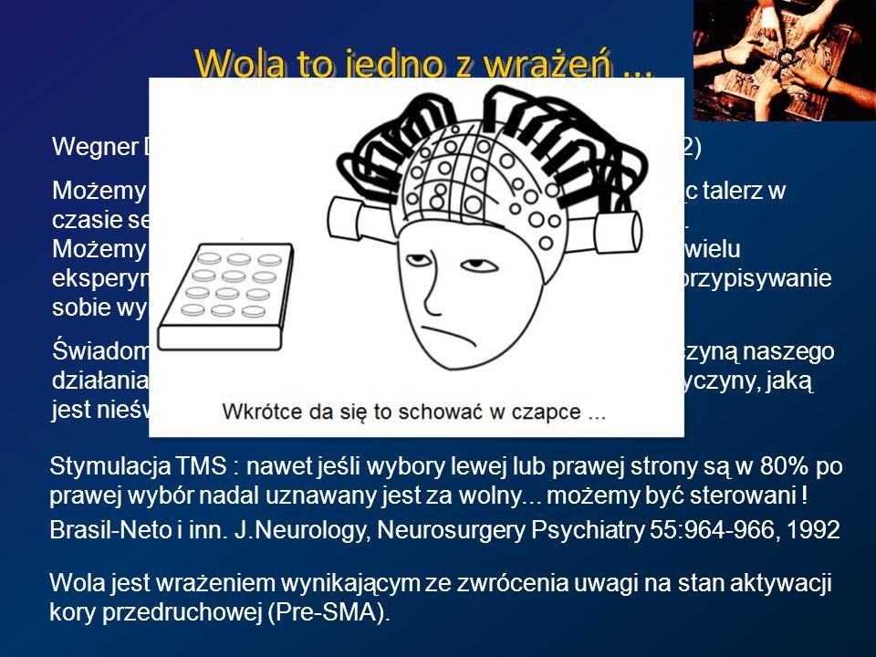 Wola to jedno z wrażeń ...Wegner DM, The illusion of conscious will. MIT Press( 2002)