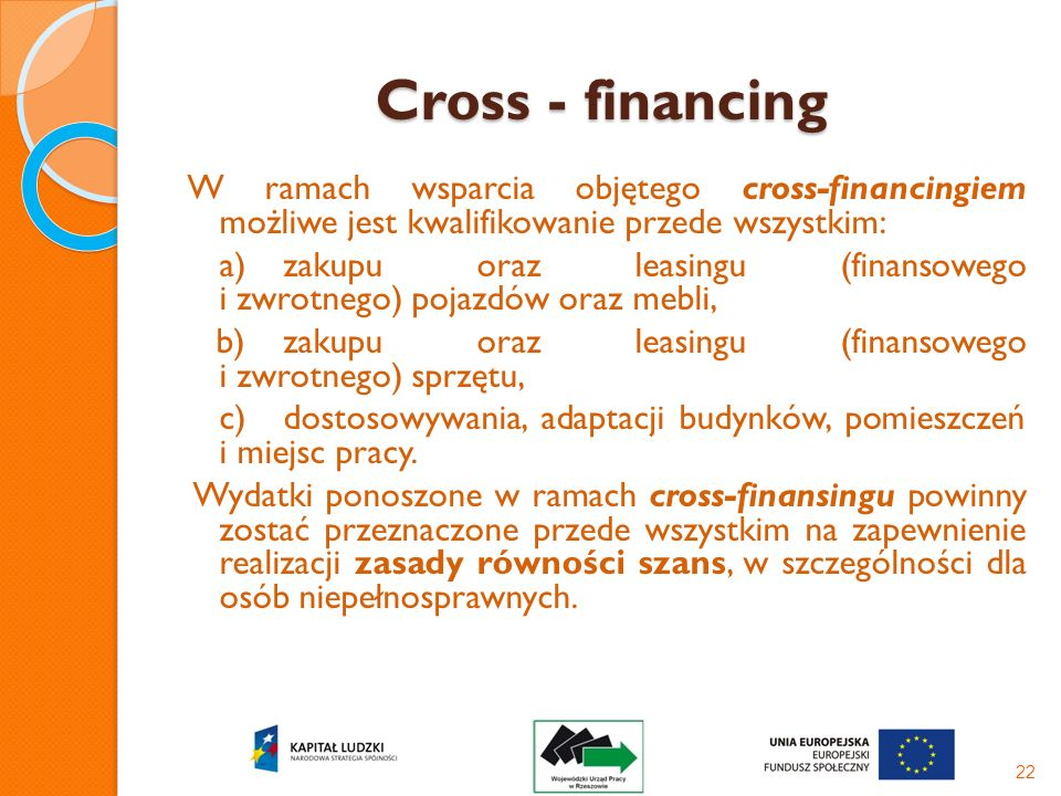 Cross - financing