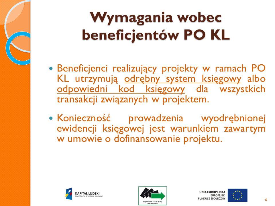 Wymagania wobec beneficjentów PO KL