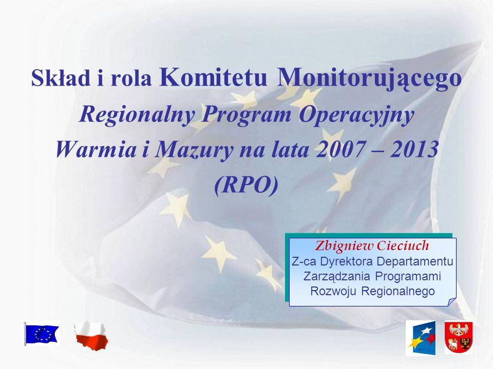 Skład i rola Komitetu Monitorującego Regionalny Program Operacyjny