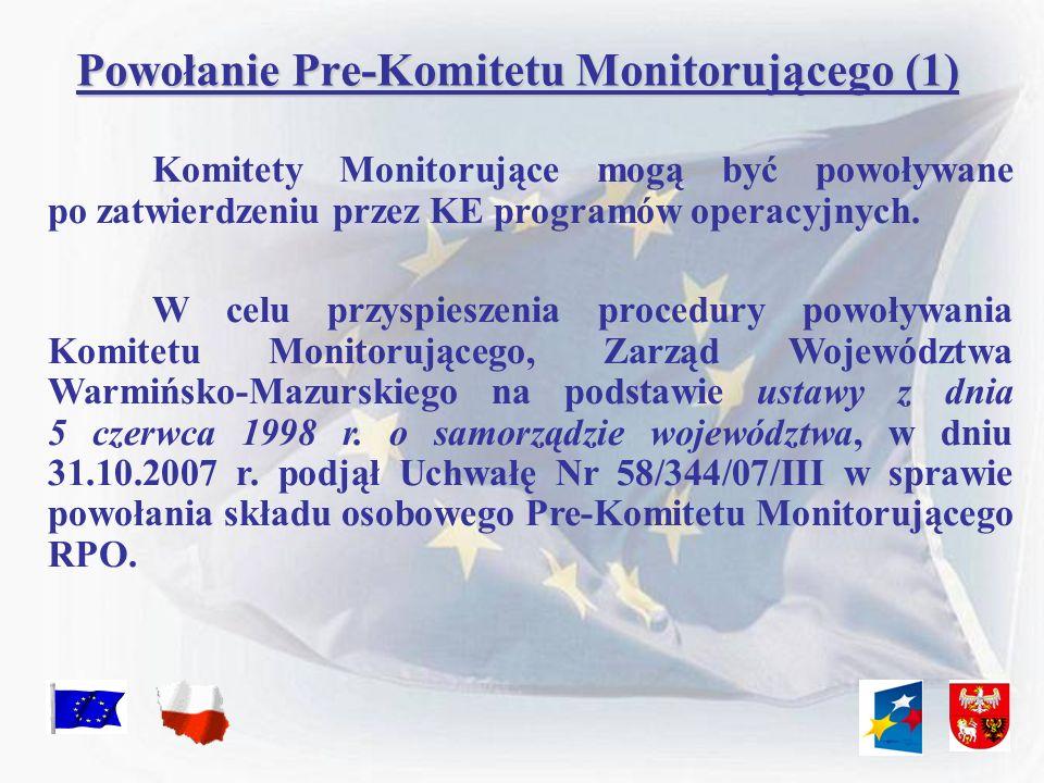 Powołanie Pre-Komitetu Monitorującego (1)