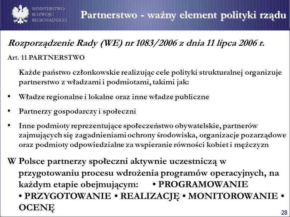 Partnerstwo - ważny element polityki rządu