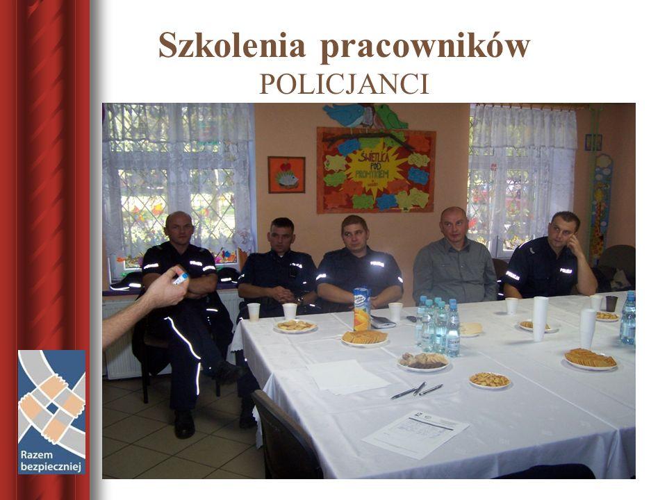 Szkolenia pracowników POLICJANCI