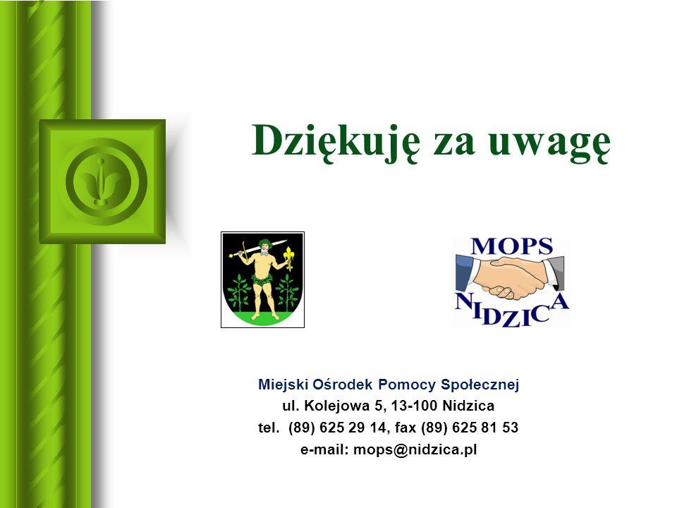 Miejski Ośrodek Pomocy Społecznej e-mail: mops@nidzica.pl
