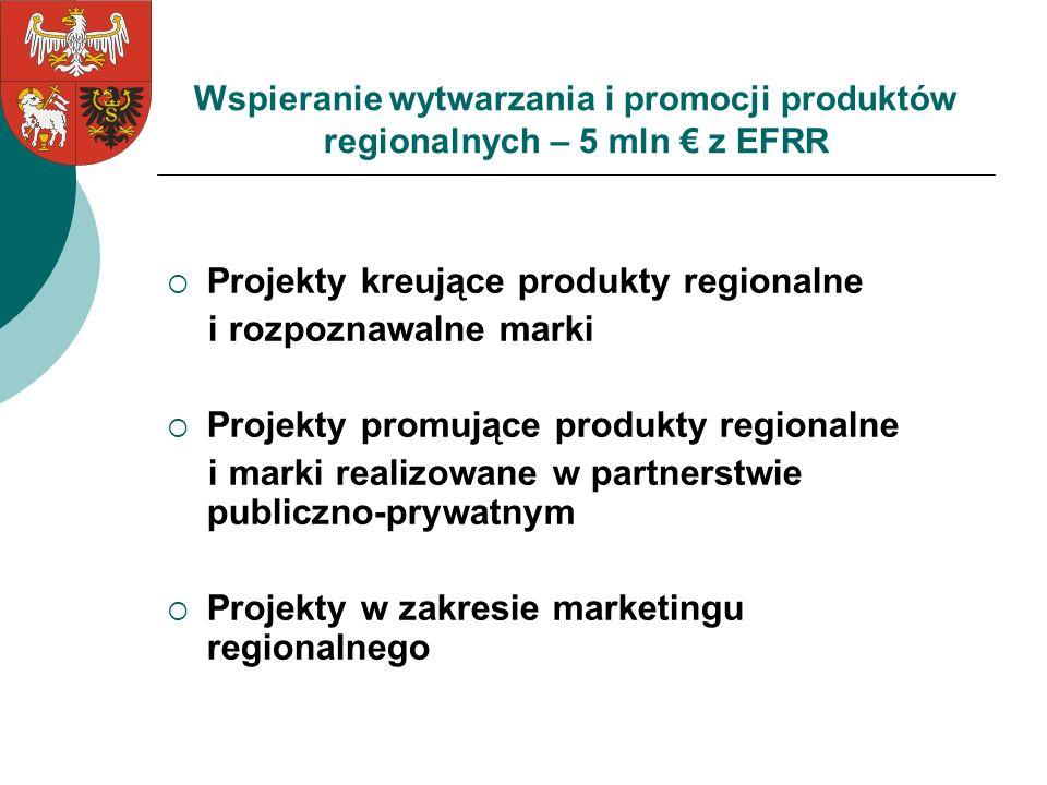 Projekty kreujące produkty regionalne i rozpoznawalne marki