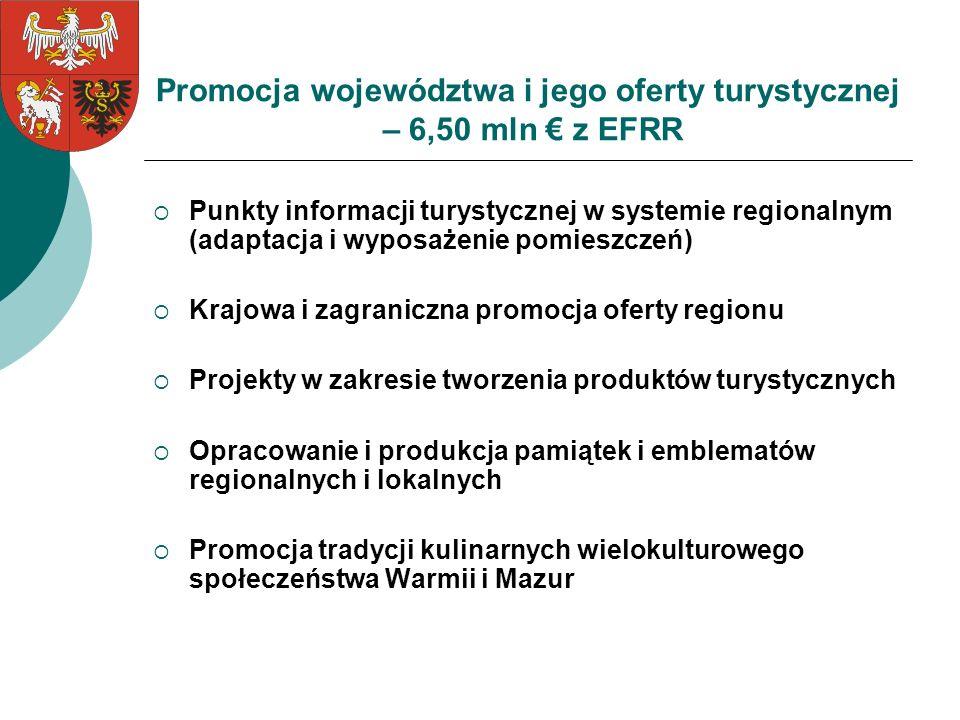 Promocja województwa i jego oferty turystycznej – 6,50 mln € z EFRR