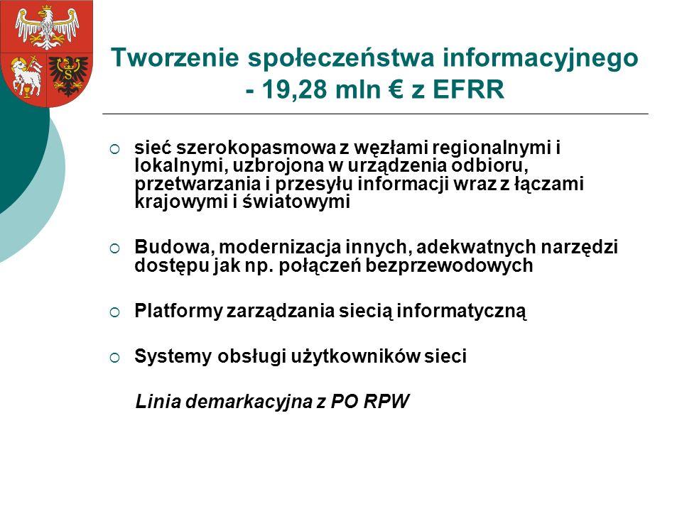 Tworzenie społeczeństwa informacyjnego - 19,28 mln € z EFRR