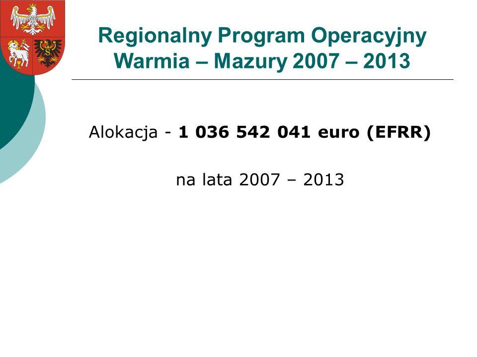 Regionalny Program Operacyjny Warmia – Mazury 2007 – 2013
