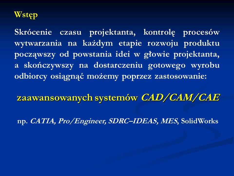 zaawansowanych systemów CAD/CAM/CAE