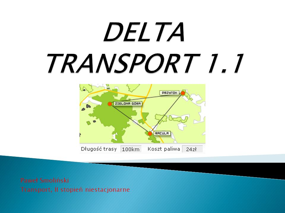 Paweł Smoliński Transport, II stopień niestacjonarne