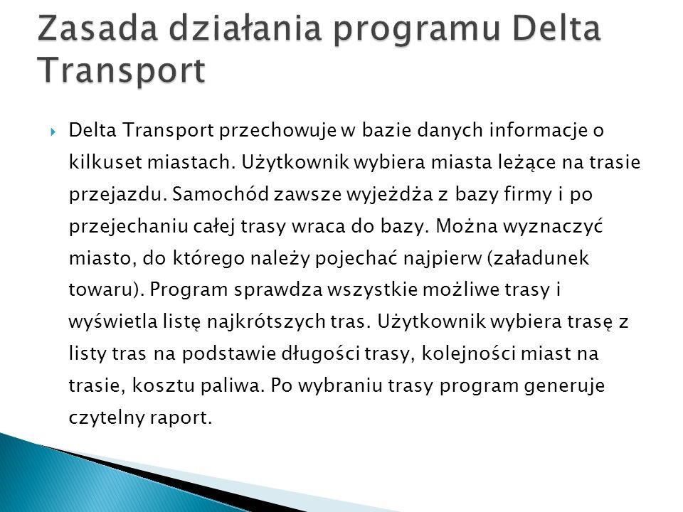 Zasada działania programu Delta Transport