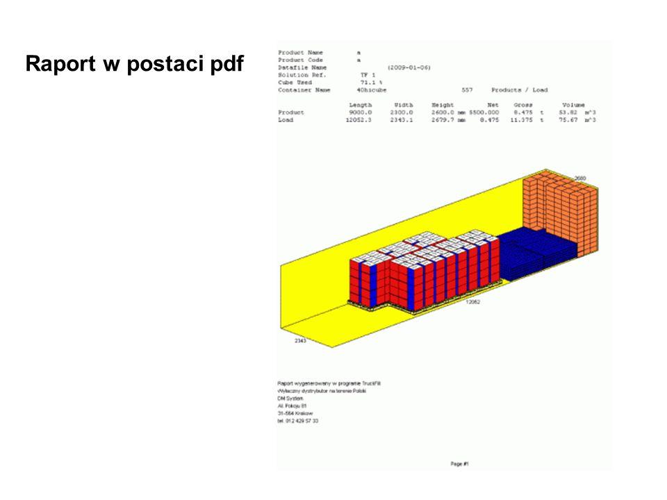 Raport w postaci pdf