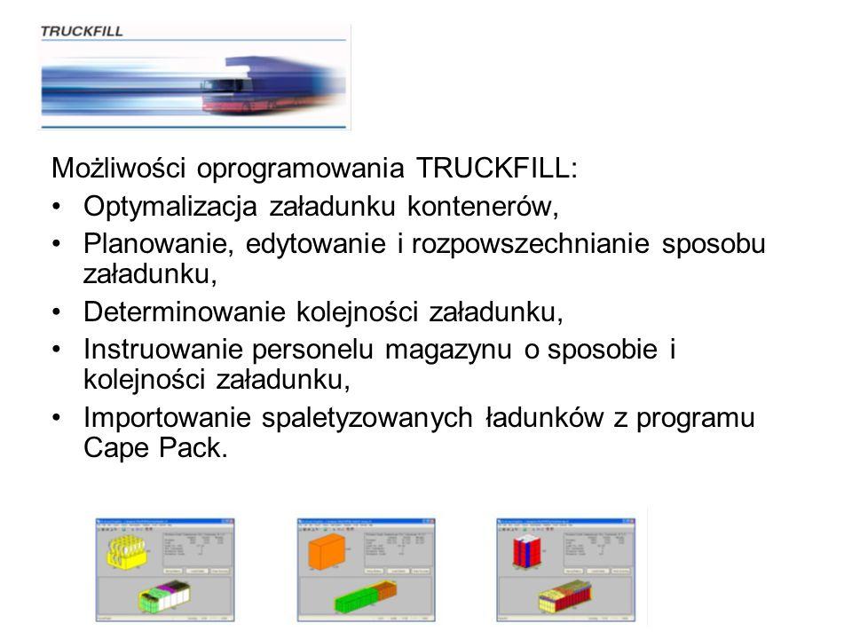 Możliwości oprogramowania TRUCKFILL: