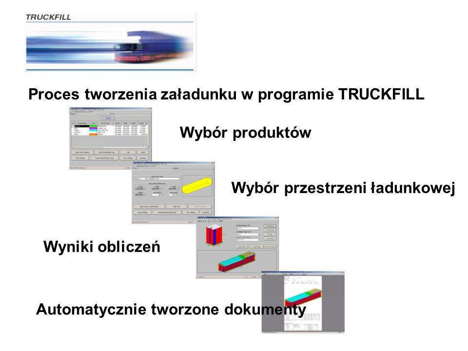 Proces tworzenia załadunku w programie TRUCKFILL