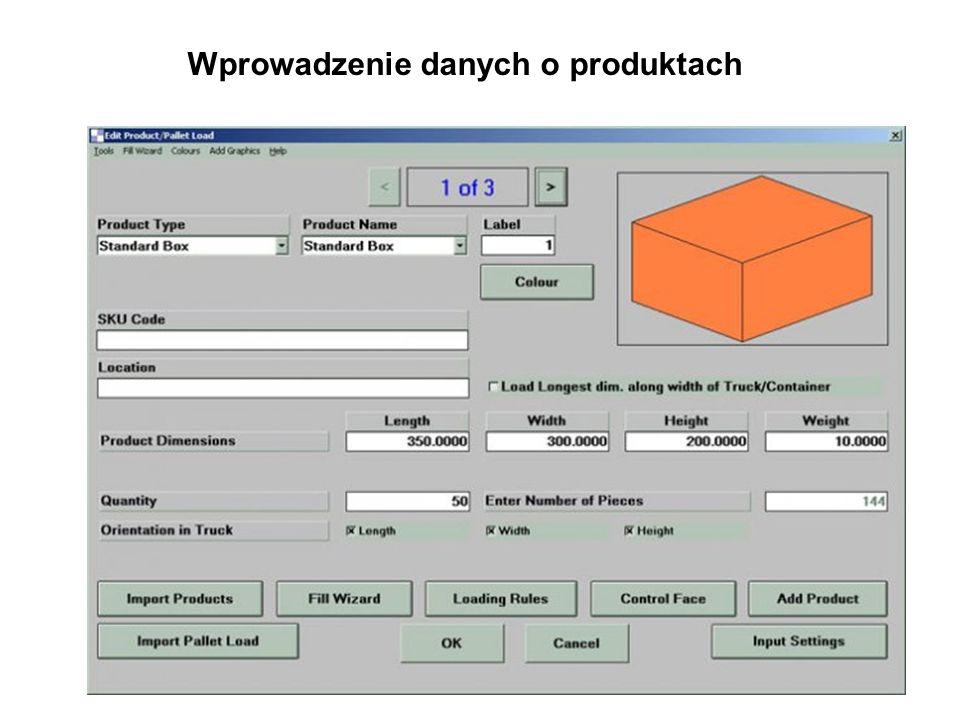Wprowadzenie danych o produktach