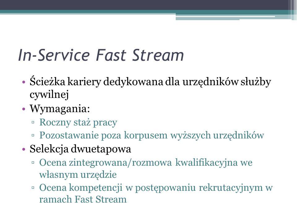 In-Service Fast Stream
