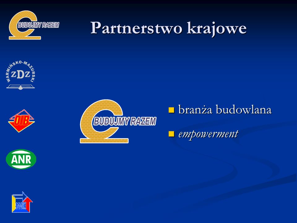 Partnerstwo krajowe branża budowlana empowerment