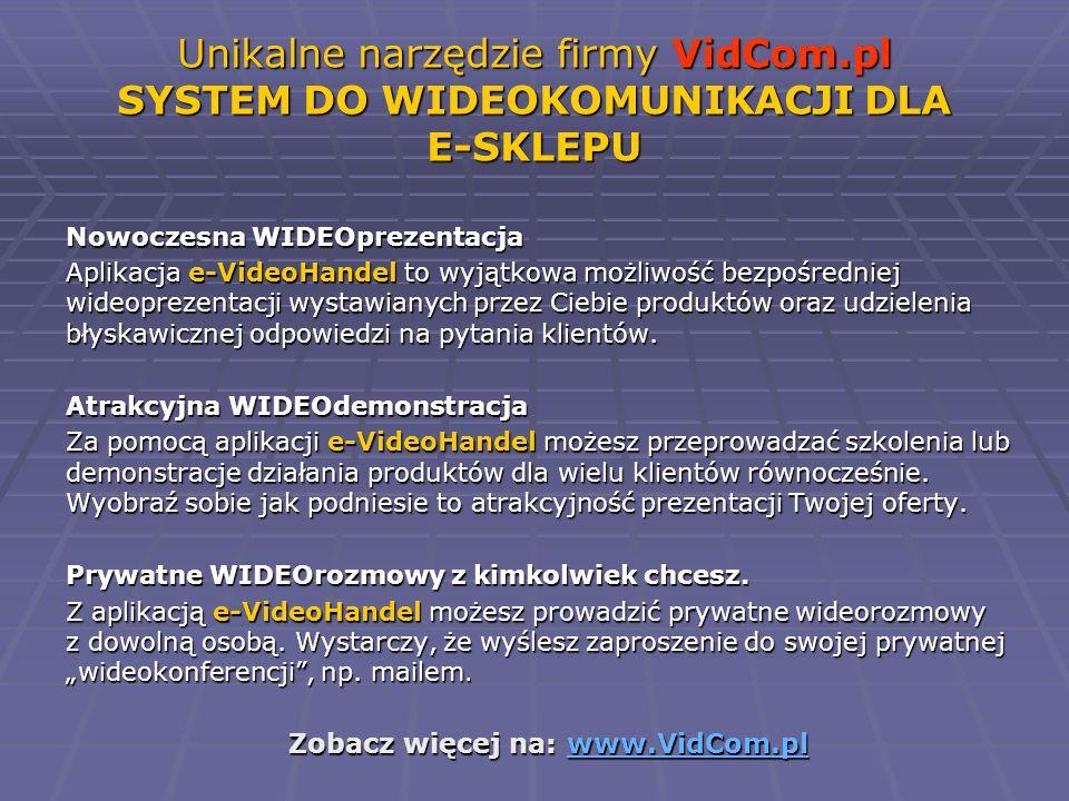 Zobacz więcej na: www.VidCom.pl