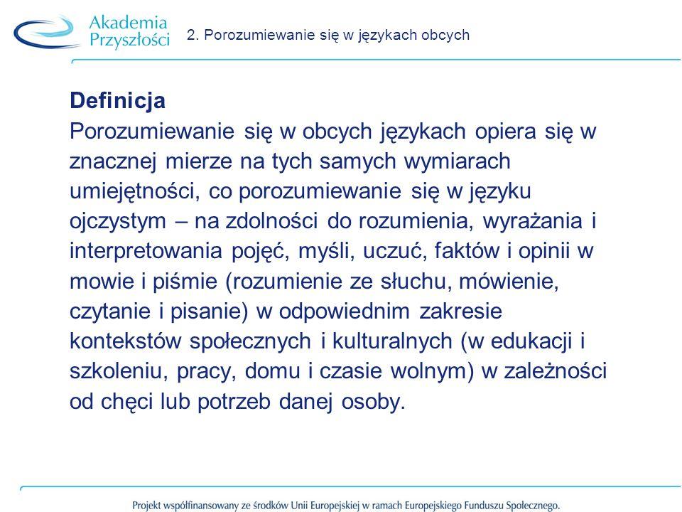 2. Porozumiewanie się w językach obcych