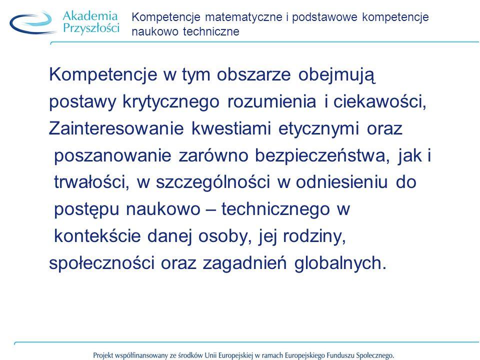 Kompetencje matematyczne i podstawowe kompetencje naukowo techniczne